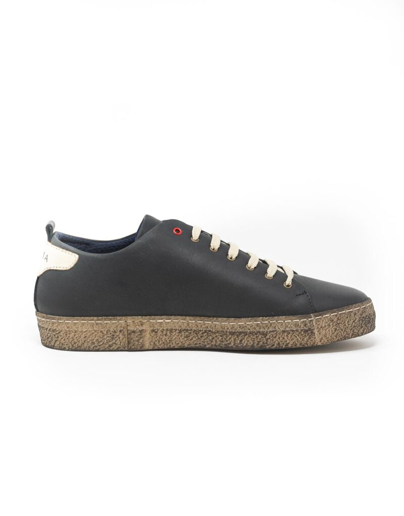 sneaker wally walker pelle Piuma nero-4129