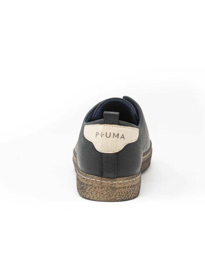 sneaker wally walker pelle Piuma nero-4130