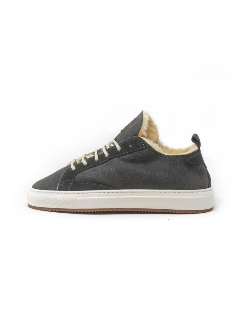 FT Lab - sneaker scamosciata con fodera in montone anallergico Asfalt grey