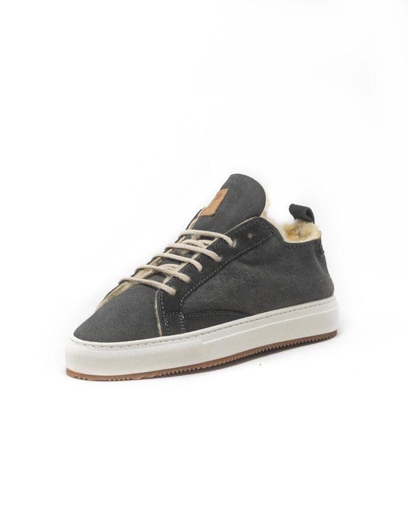 FT Lab – sneaker scamosciata con fodera in montone anallergico Asfalt grey-6782