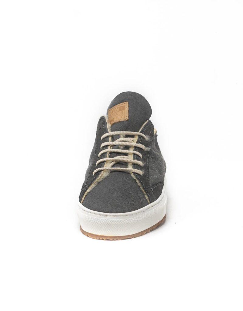 FT Lab – sneaker scamosciata con fodera in montone anallergico Asfalt grey-6783