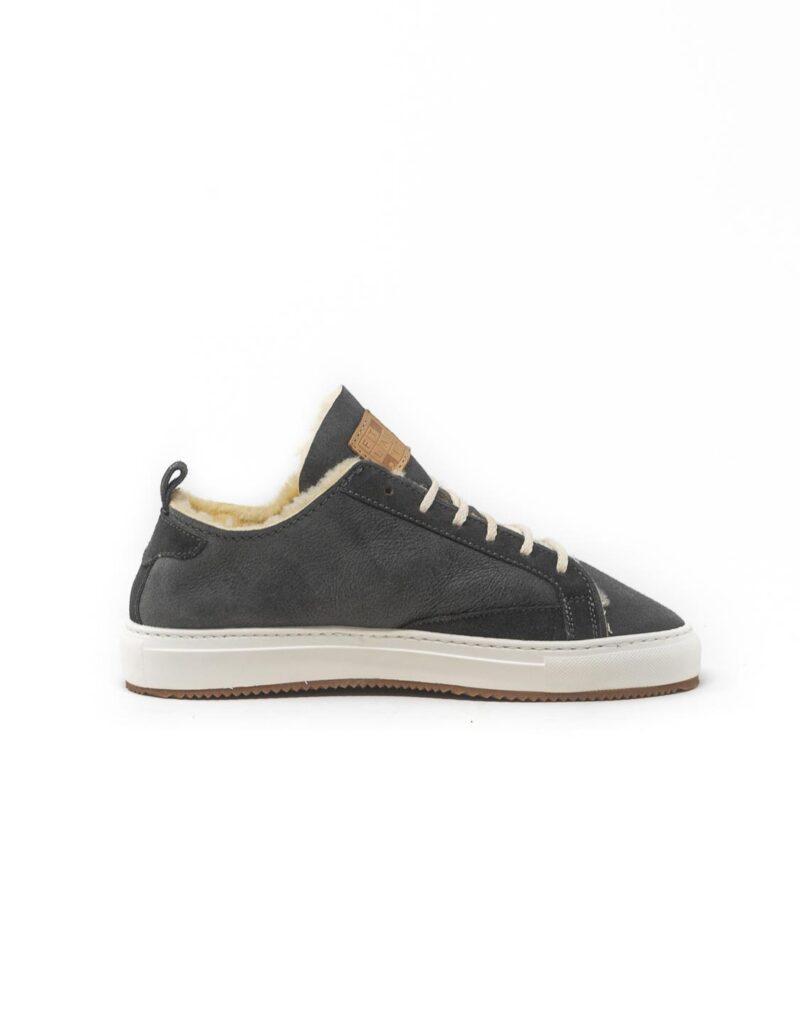 FT Lab – sneaker scamosciata con fodera in montone anallergico Asfalt grey-6784