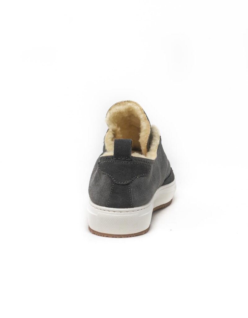 FT Lab – sneaker scamosciata con fodera in montone anallergico Asfalt grey-6785