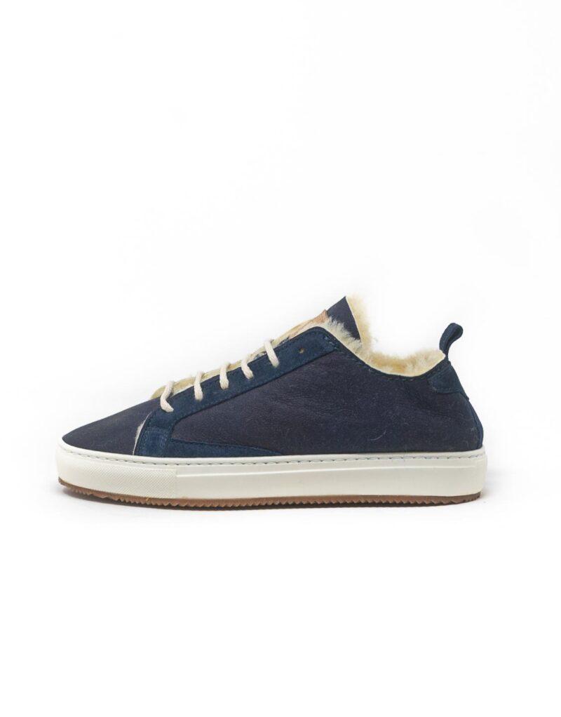FT Lab - sneaker scamosciata con fodera in montone anallergico blu