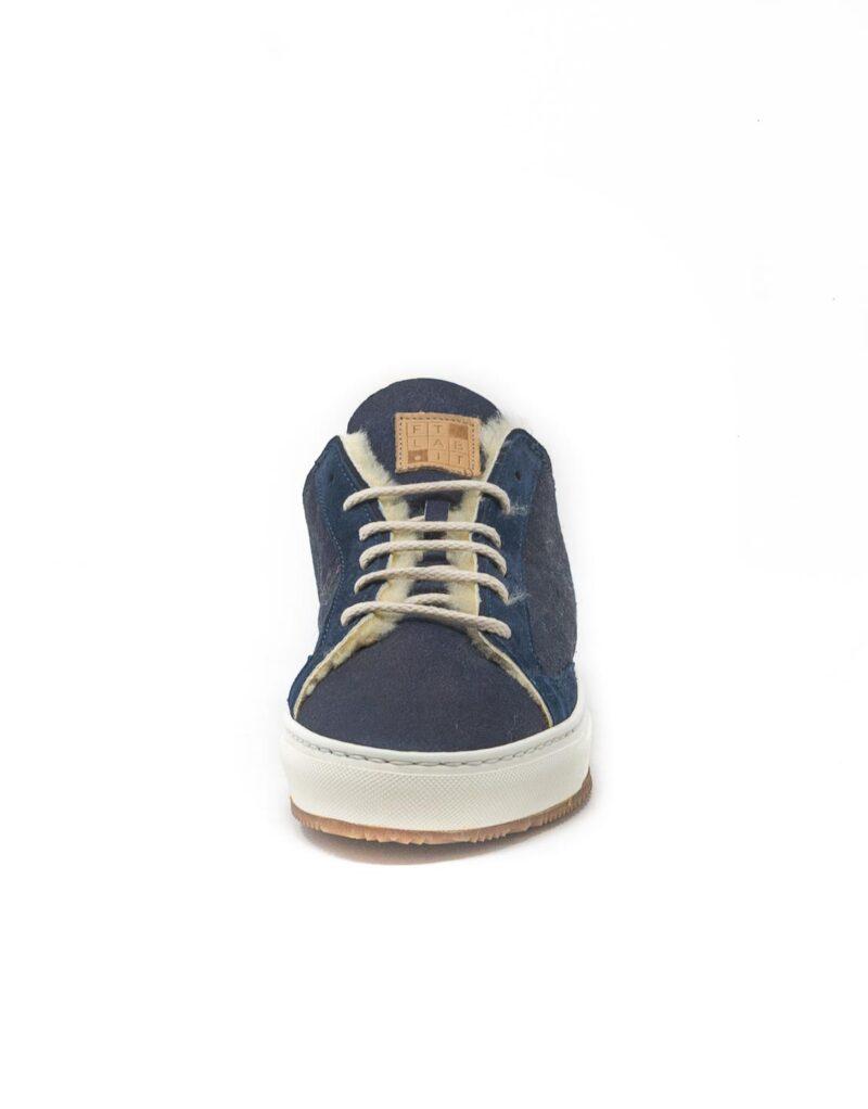 FT Lab – sneaker scamosciata con fodera in montone anallergico blu-6801
