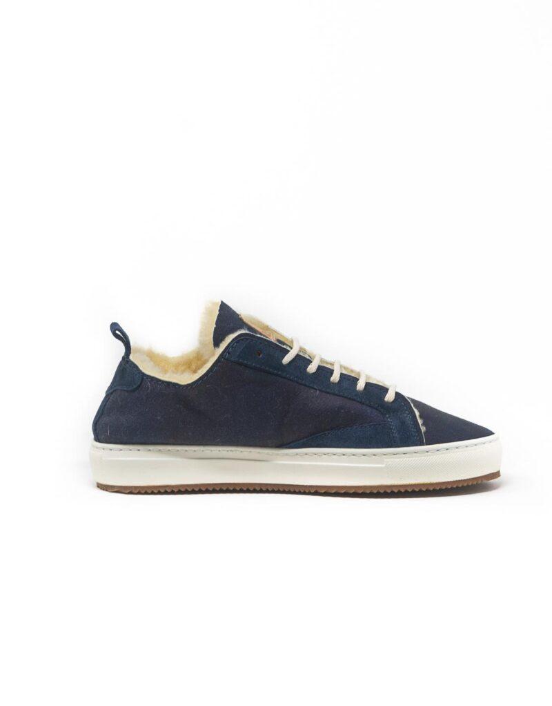 FT Lab – sneaker scamosciata con fodera in montone anallergico blu-6802
