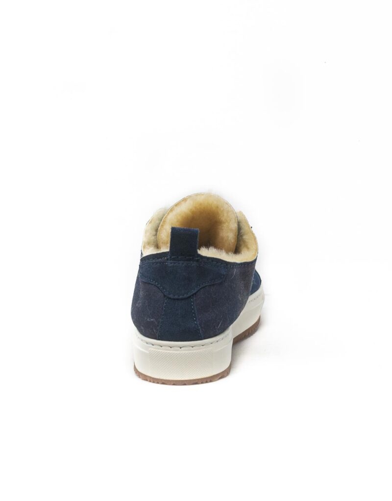FT Lab – sneaker scamosciata con fodera in montone anallergico blu-6803