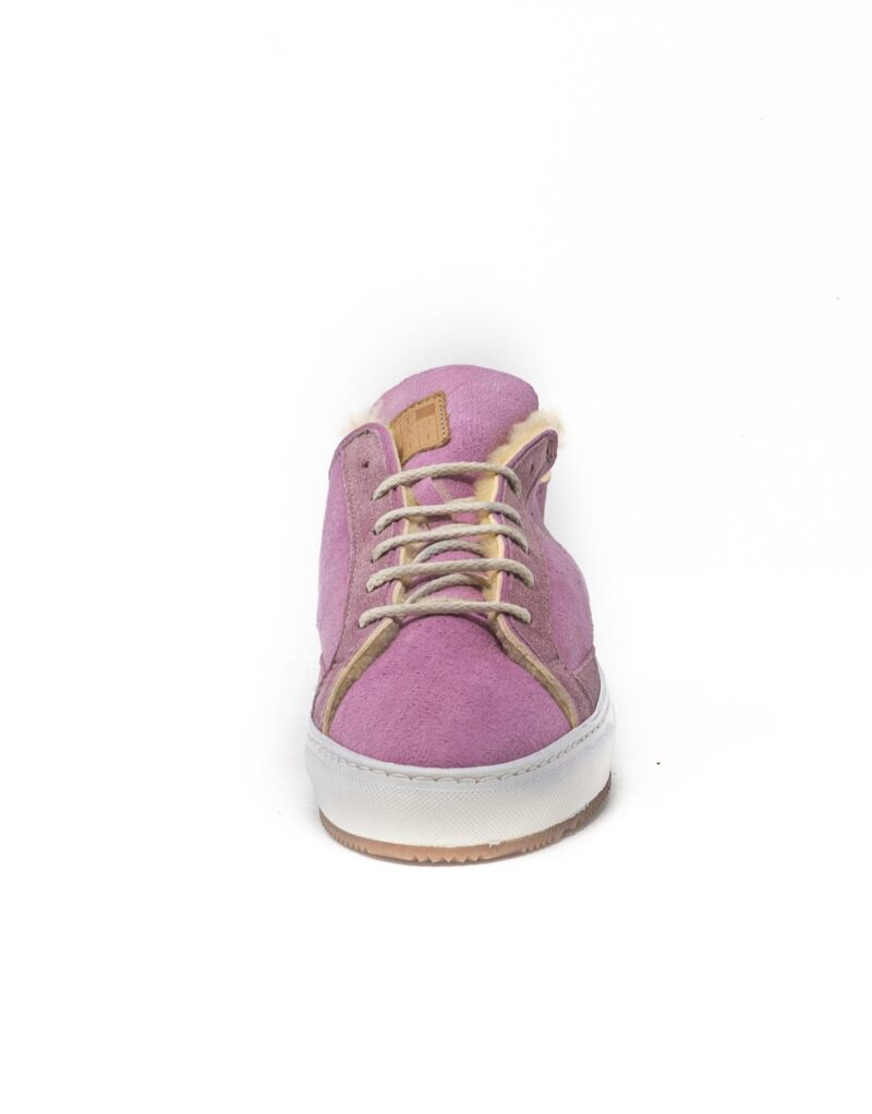FT Lab – sneaker scamosciata con fodera in montone anallergico old rose-6795