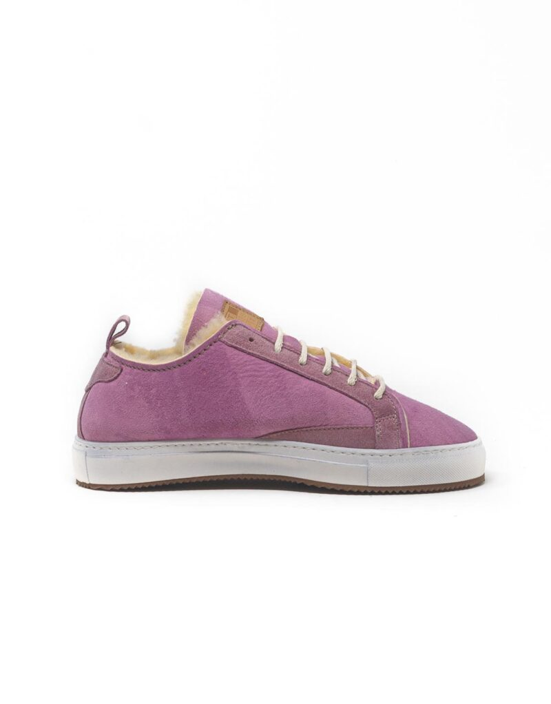 FT Lab – sneaker scamosciata con fodera in montone anallergico old rose-6796