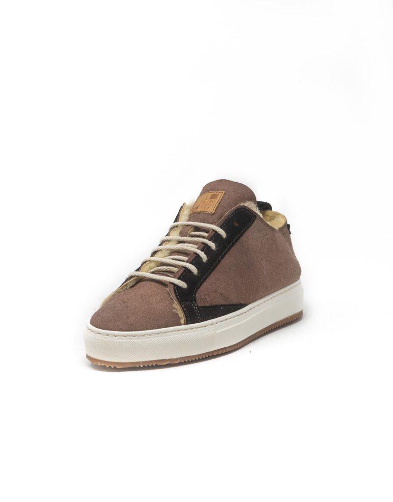 FT Lab – sneaker scamosciata con fodera in montone anallergico safari-6788